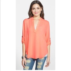 Nordstrom Perfect Roll Tab Sleeve Tunic